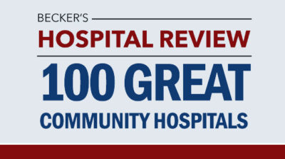 Beckers HR 100 great community hospitals logo