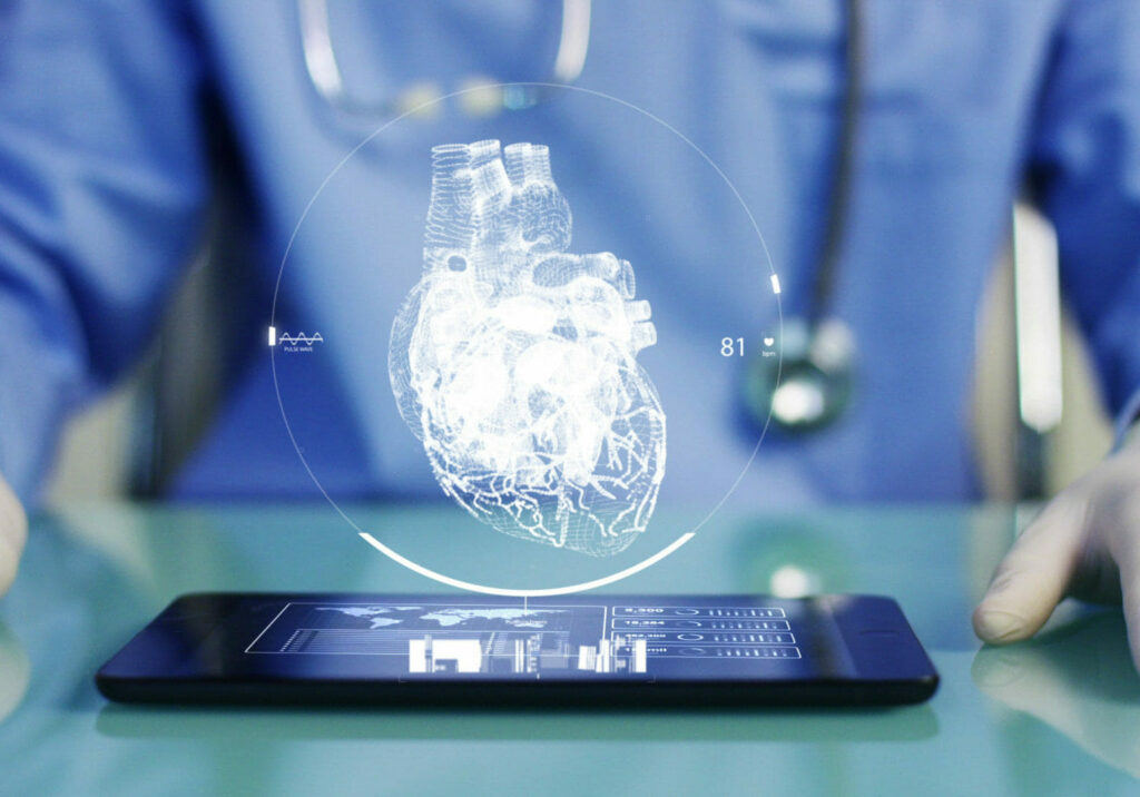 digital projection of the heart for healthcare innovation