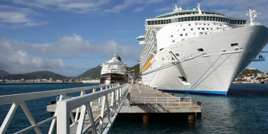 Large boat and shipping dock