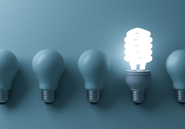 lightbulb lit up for workforce efficiency